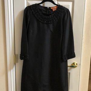 Tory Buch Black silk dress